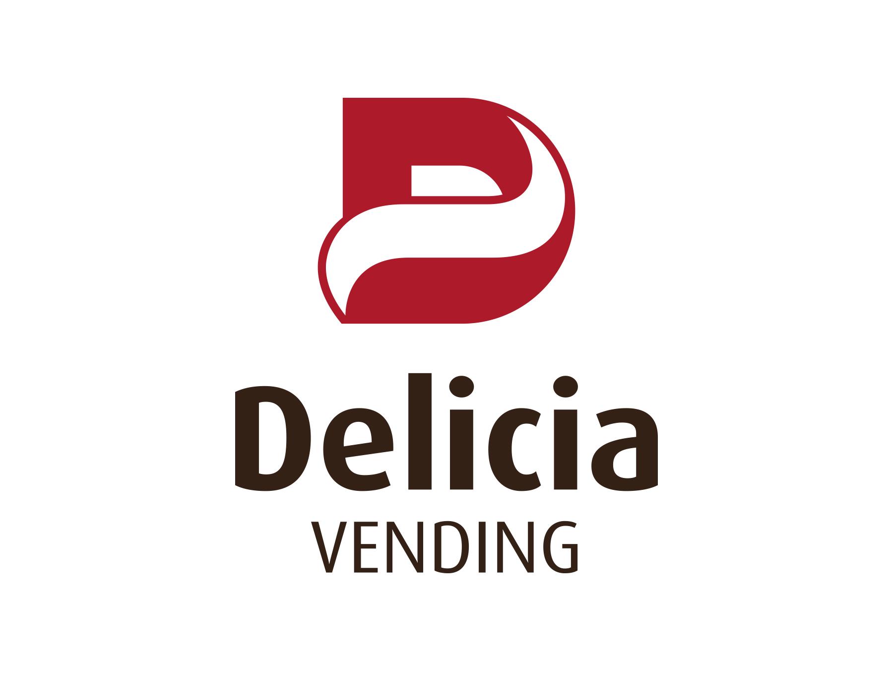 Графичен знак и логотип Delicia vending.