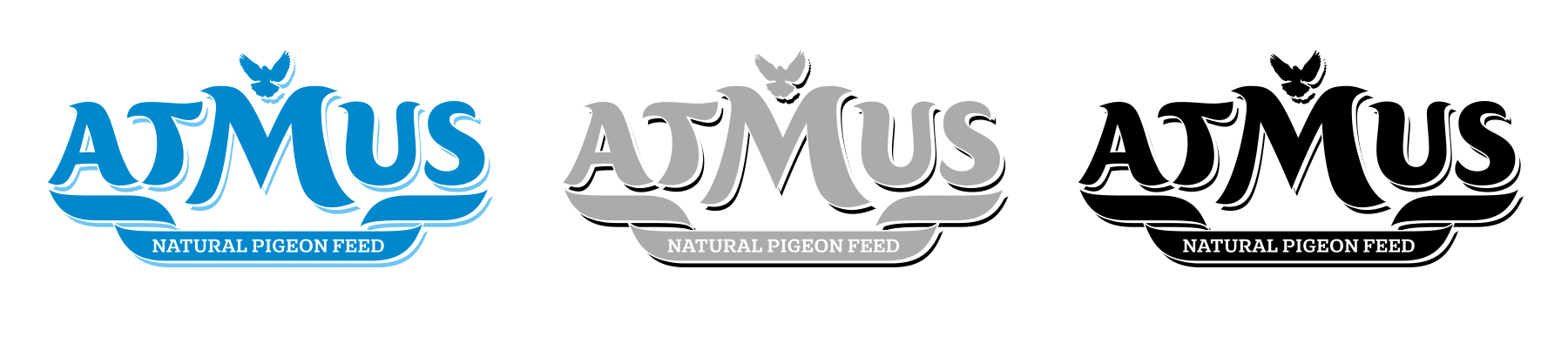 Търговска марка Atmus - цветна,  монохромна,  черно-бяла