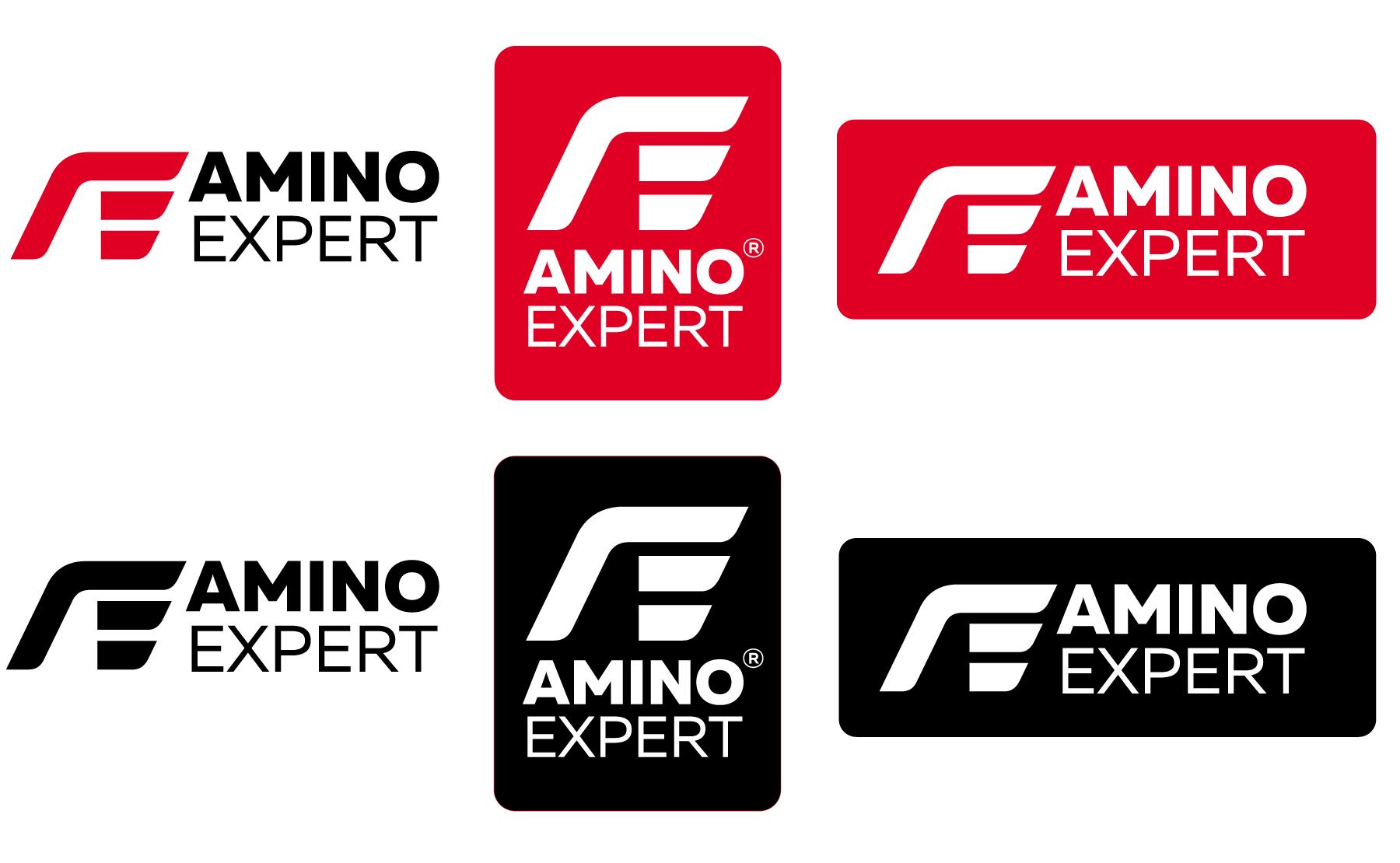 Amino expert. Графичен знак и логотип. Цветен и монохромен вариант.