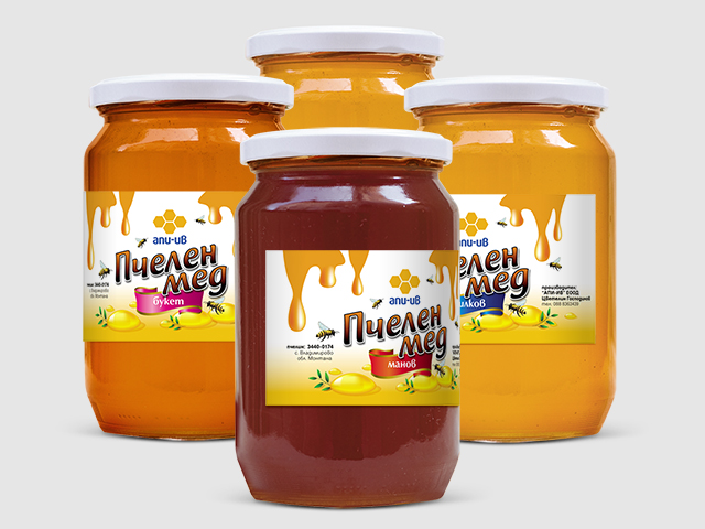 Honey labels. Design and prepress. Client: Api-Iv