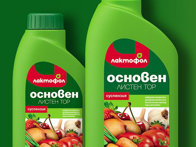 Lactofol liquid fertilizer. Packaging and label design. Client: Ecofol