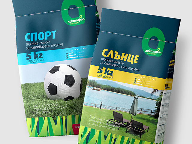 Lactofol Grass-seed mixture packaging. Client: Ecofol