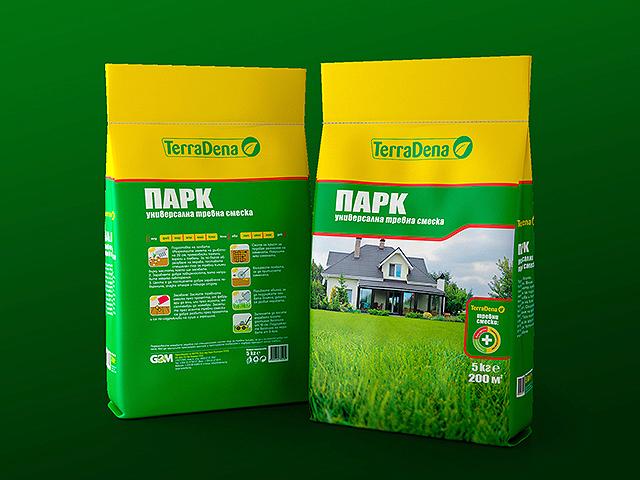 TerraDena. Packaging design for grass mixtures. Client: GBM