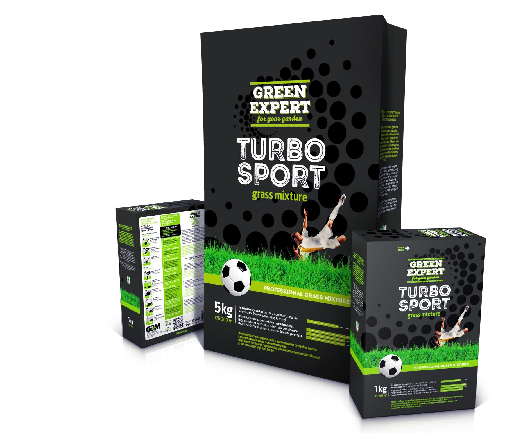 Green Expert. Серия опаковки за тревни смески.Клиент: Джи Би Ем Комерс