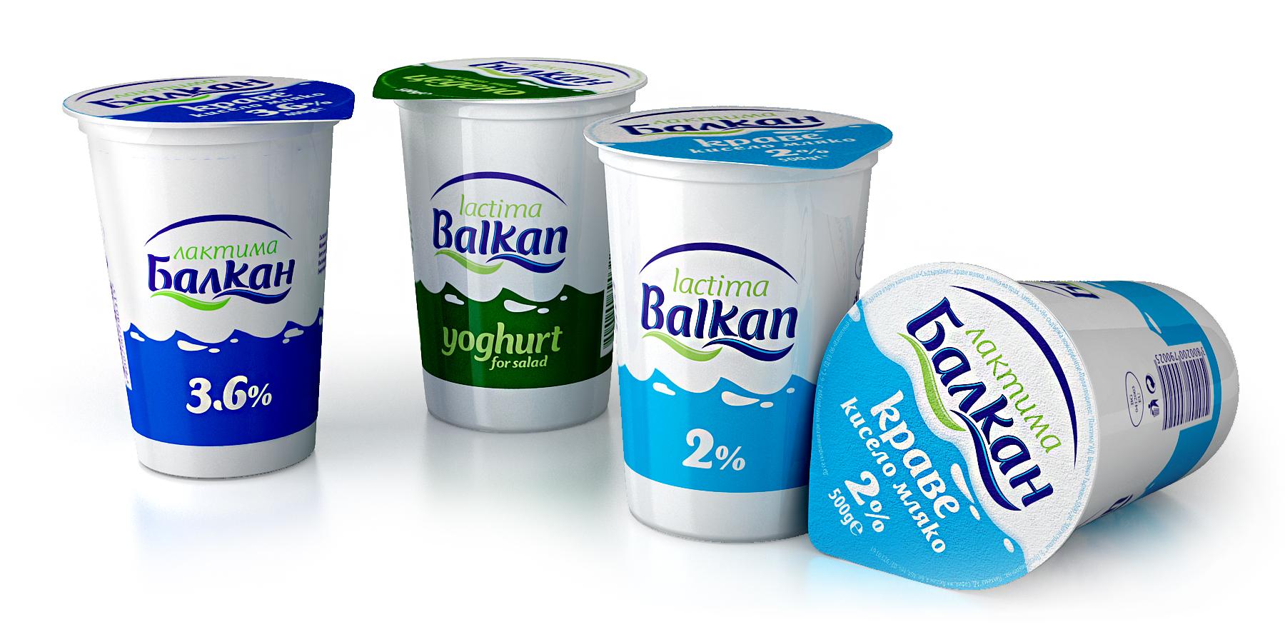 Лактима Балкан 3,6%,  Йогурт,  Краве кисело мляко 2%