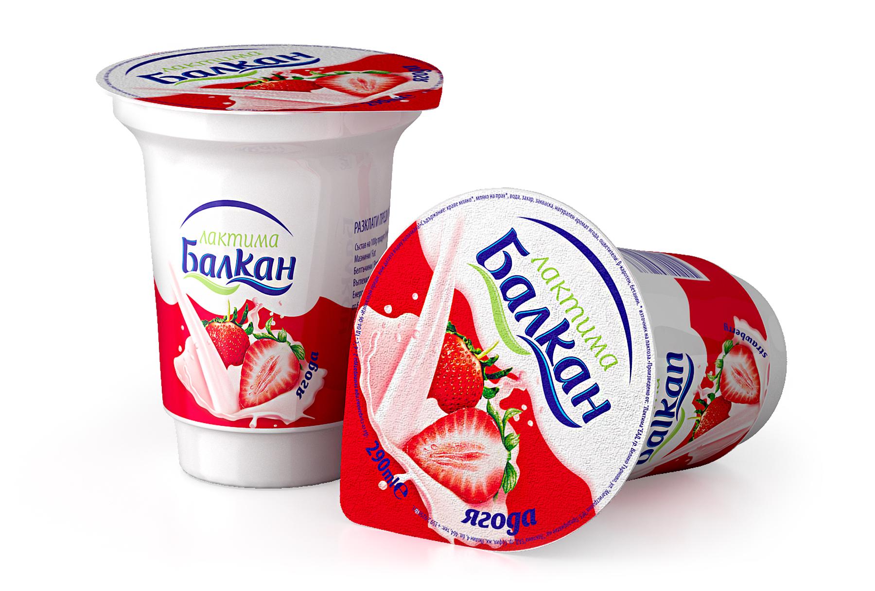 Плодово мляко с вкус на ягода
