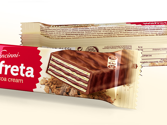 Wafreta. Packaging design and prepress. Client: Makprogres