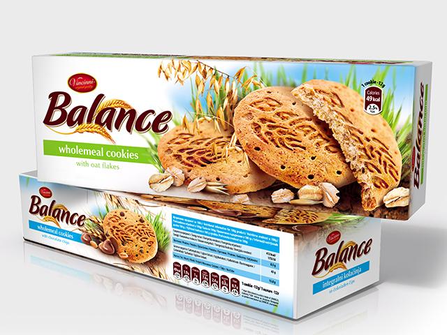 Balance wholemeal cookies. Редизайн на серия опаковки,  илюстрация.Клиент: Макпрогрес