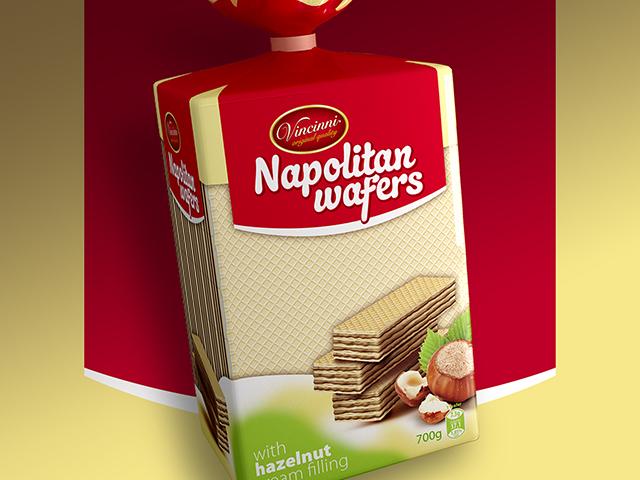 Range of wafers packaging design. Client: Makprogres