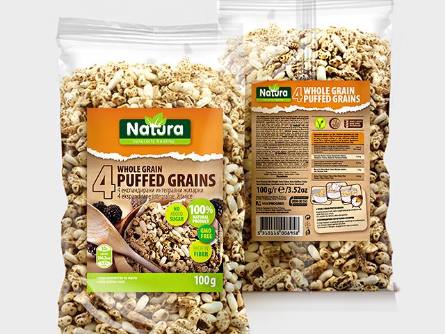 Natura Puffed grains