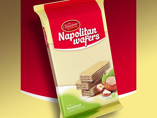 Napolitan wafers packaging design. Client: Makprogres