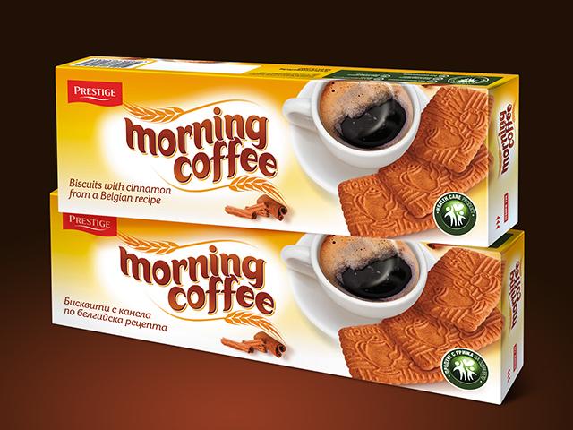 Опаковка за бисквити Morning Coffee.Клиент: Престиж 96