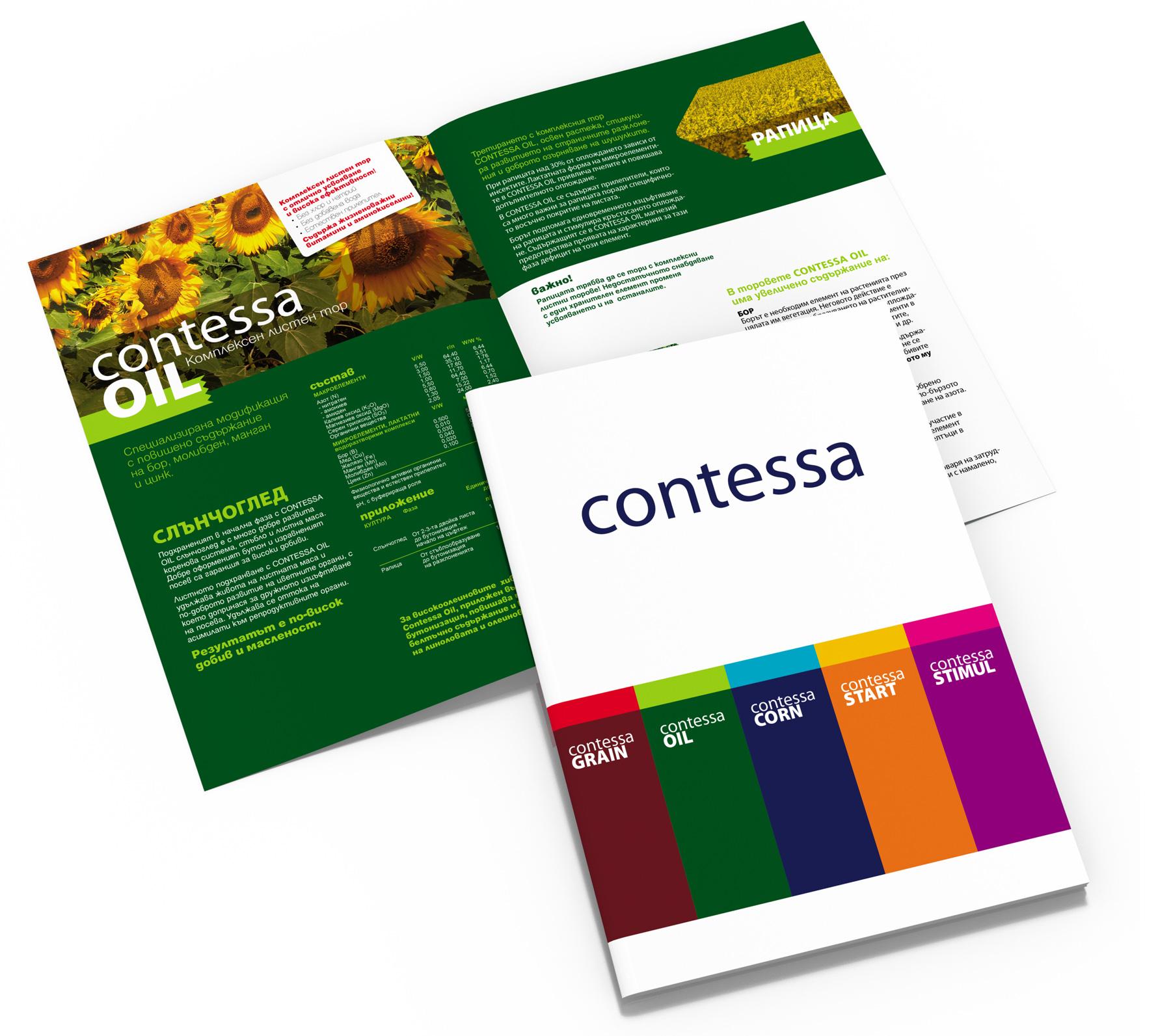 каталог на течните торове с марката Contessa